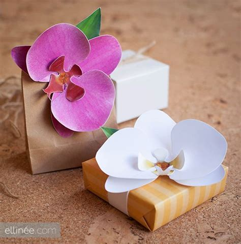 Printable Paper Orchid   paper orchid printable template paper flowers pinterest