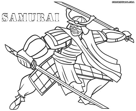 Samurai Coloring Pages samurai warrior coloring pages