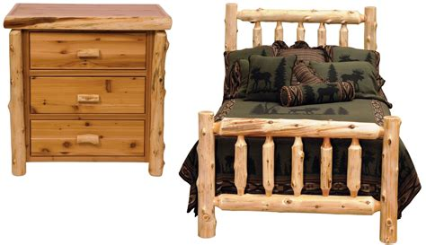 Log Bedroom Set | traditional cedar youth log bedroom set from fireside