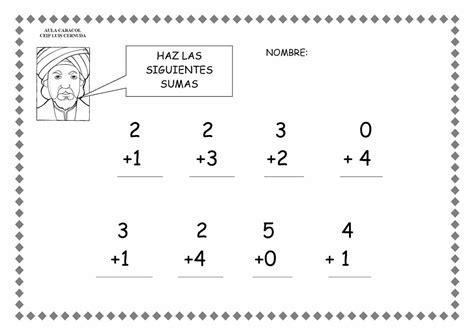 esos locos bajitos de infantil fichas matematicas