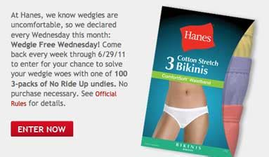 Knickers Giveaway 100 Voucher At Silkstormcom by 187 Hanes Wedgie Free Wednesday Giveaway 100 Win