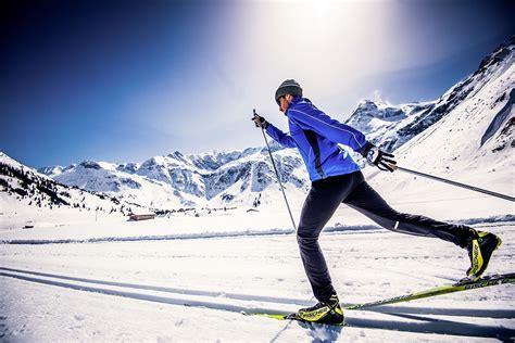 winter holidays skiing cross country skiing  gastein