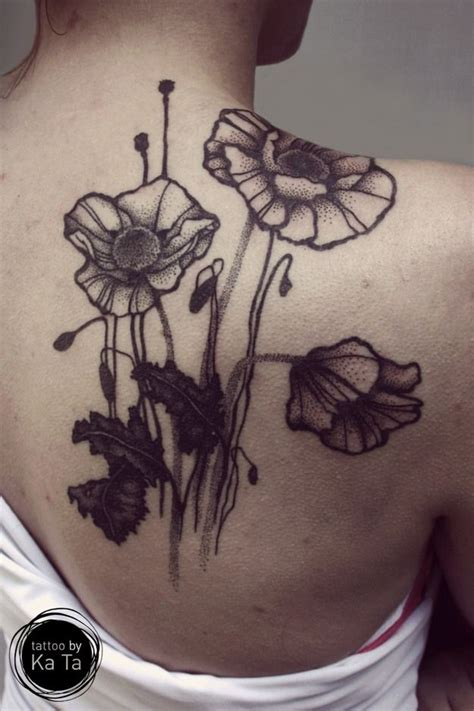 watercolor tattoos in ta poppies and design by ka ta https www