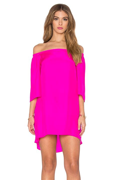 dress amanda amanda uprichard nirvana silk dress in pink lyst