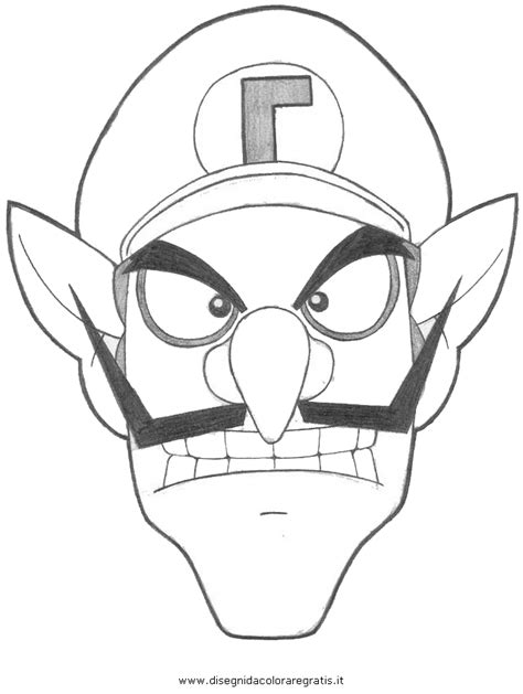 waluigi coloring page www imgkid com the image kid has it
