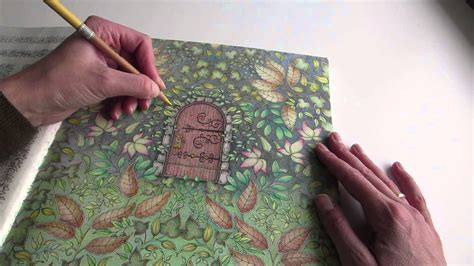 my secret garden colouring book colouring my secret garden the secret door part 1 how