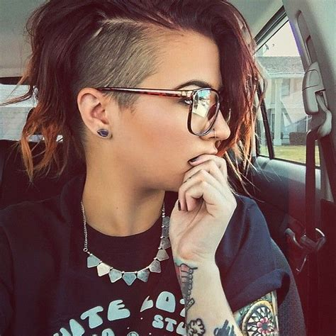 short natural hairstyles when shaved on one side and in back best 25 short shaved hairstyles ideas on pinterest
