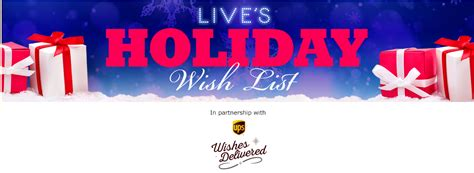 Mail In Sweepstakes List - live s holiday wish list 20 000 contest