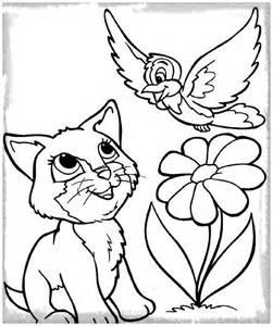 dibujos gatos perros colorear archivos gatitos tiernos