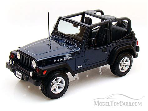 jeep toy car jeep wrangler rubicon blue maisto 31663 1 18 scale