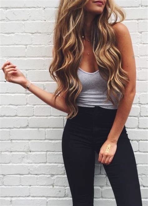 hairstyles for party on jeans top blonde hair clothes coloured hair cute outfits fashion