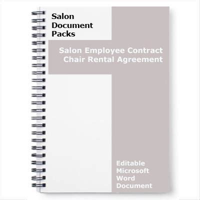 hairdressing rent a chair contract template salon chair rental agreement