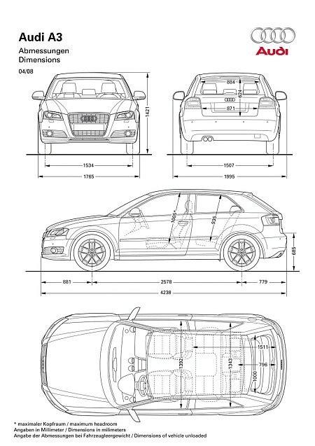 Audi A3 Dimensions 2014 by Dimensions Of Audi A3 Sportback Car Reviews 2018