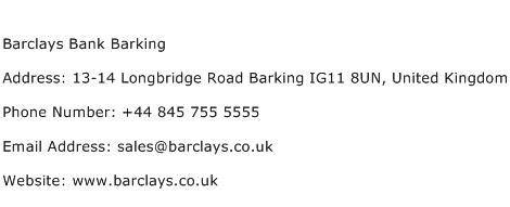 Barclays Address Finder Barclays Bank Barking Address Contact Number Of Barclays Bank Barking
