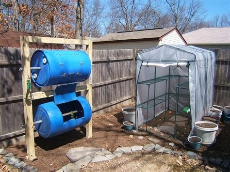 backyard composters diy double decker drum composter home design garden