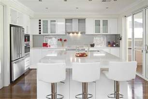 White Modern Kitchen Ideas by Glossy White Kitchen Design Trend Digsdigs