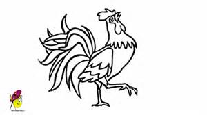 rooster easy drawing how to draw a rooster youtube