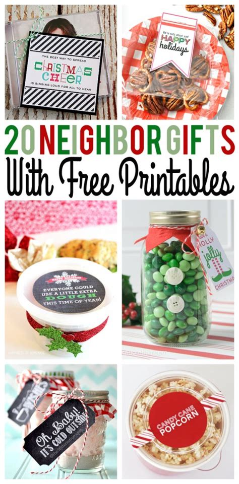 Gift Ideas For Neighbors For - gifts with free printables eighteen25