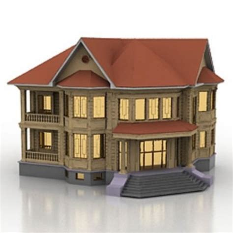 create a 3d house house 3d model 3ds