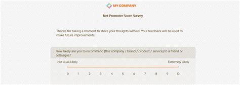 net promoter score survey template net promoter score survey questionnaire templates