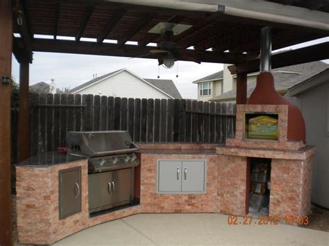 another outdoor kitchen with our wood fired oven outdoor kitchen with brick wood fired pizza oven