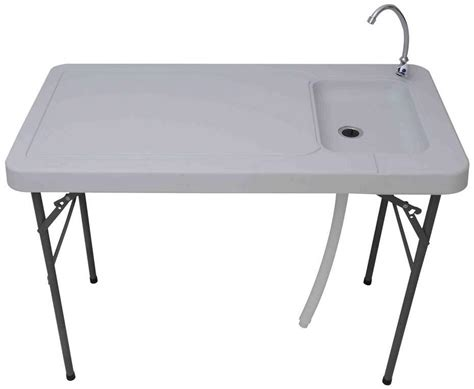 Folding Table With Sink Palm Springs Outdoor Folding Portable Fish Filet Table W Sink 45 Quot X24 Quot Ebay