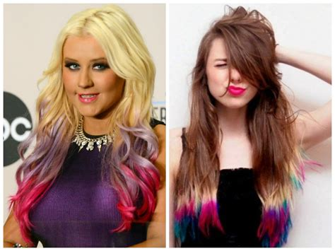 multi color hair dye dip dyed hair color ideas hair world magazine