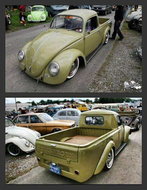 volkswagen pickup slammed 99 best images about beetle pickup on pinterest
