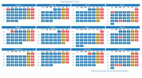 Calendario 2019 Con Festività Calendario 2018 Con Giorni Festivi