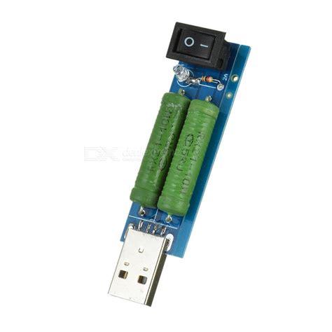 usb discharge resistor mini 2a 1a usb discharge load resistor digital current voltage meter tester blue free