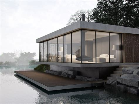 Modern Lake House Plans by фото Lounge House архитектура World