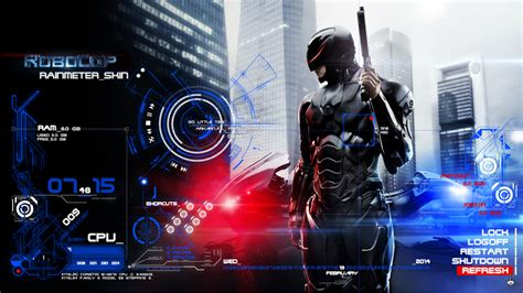 pc themes deviantart robocop rainmeter skin by zakycool on deviantart