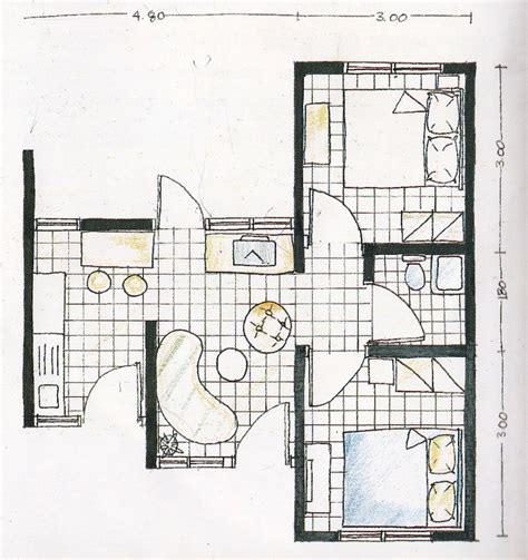 layout rumah type 30 contoh rumah mungil type 30 lengkap dengan layout tak