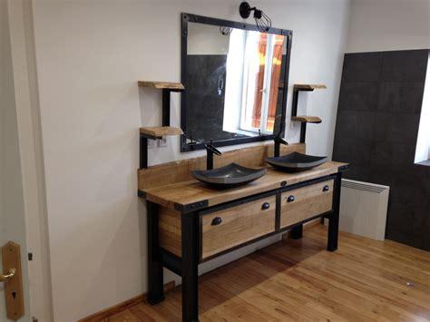 meuble salle de bain style indus vintage meubles et