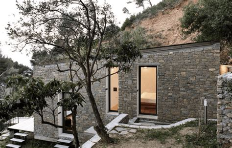 rugged home this secret tiny house is built into an actual hillside
