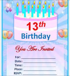 Birthday Invitation Templates Free Word by Sle Birthday Invitation Template 40 Documents In Pdf