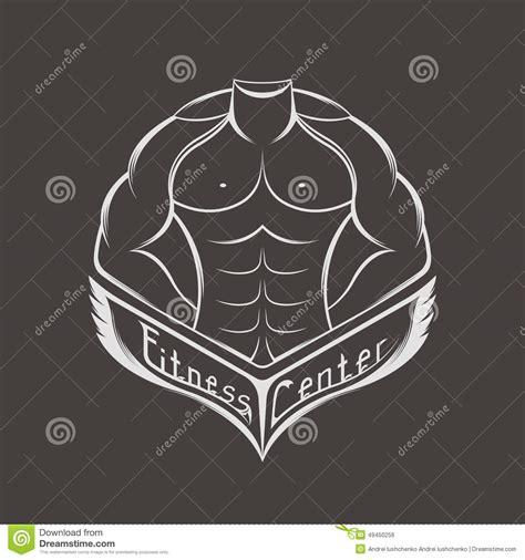 Kaos Fitness World Graphic 6 vector logo sports center or club stock illustration