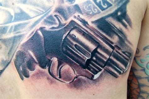crossed pistol tattoos weapons tattoos designs pictures