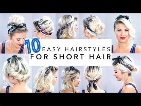 easy hairstyles download video download 10 easy hairstyles for short hair with headband