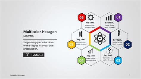 css layout ppt multicolor hexagon powerpoint diagram slide ocean