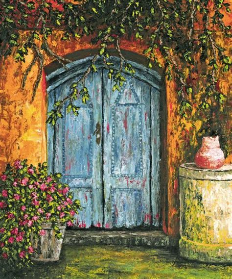 beautifull and pretty blue house door check it out why