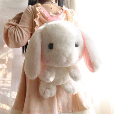 bag bunny bunny backpack stuffed animal kawaii