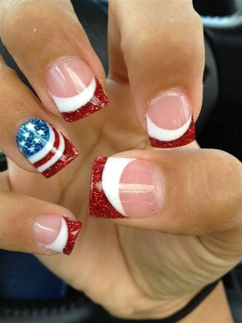 red acrylic 4th of july nils 14 amazing american flag inspired nails pretty designs