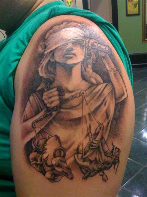angel justice tattoo lady justice tattoo