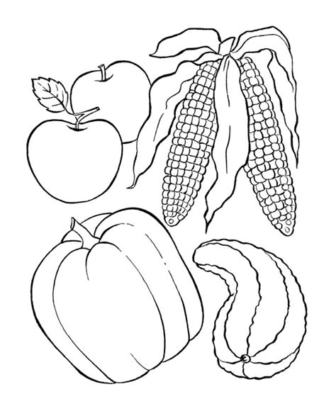cornucopia coloring pages preschool easy preschool coloring pages