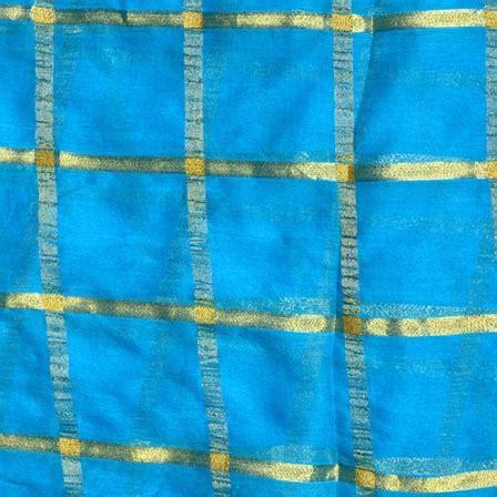 pattern chiffon fabric buy sky blue and golden lining pattern chiffon fabric 4369