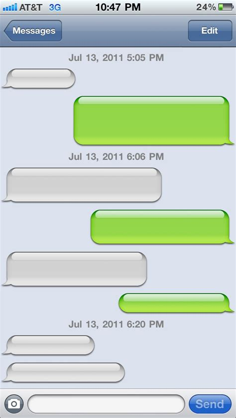 iphone template text message image gallery iphone message