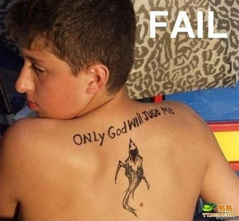 tattoo fail woman a young victim of hooked on phonics funny to meh