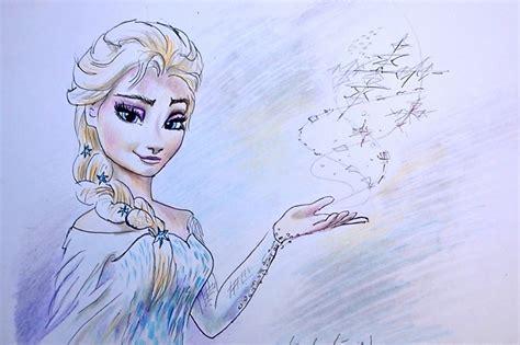 een film van frozen 2 zo teken je elsa van frozen kleur potlood in stappen youtube