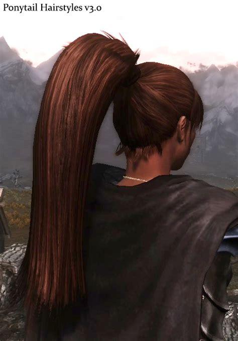 hairdos mod for skyrim ponytail hairstyles v3 0 at skyrim nexus mods and community